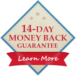 Try Our Courses 100% Risk-Free With Our 14-Day Money Back Guarantee.